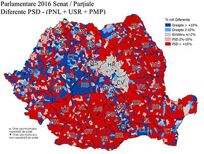 Avem acum, dupã ce tumultul alegerilor s-a încheiat şi dupã ce deja e instalat la timona guvernului Grindeanu, o hartã destul de clarã a opţiunilor de vot la nivel...