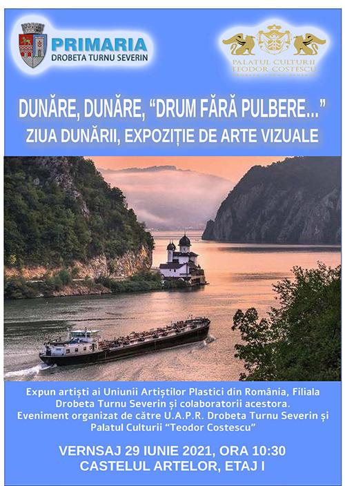 """Mâine, 29 Iunie, este Ziua Internaţională a Dunării. O vom sărbători printr-un vernisaj organizat la ,,Castelul Artelor"""", etajul I, ora 10:30 de către Palatul Culturii «Teodor Costescu"""" şi Uniunea Artiştilor..."""